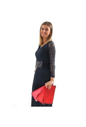 Jacqulıne 1112-1 Kırmızı Çapraz Bayan Çanta