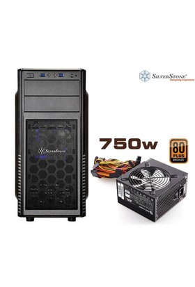 SilverStone Precision Serisi PS11B-W USB3.0 750W 80+ Bronze ATX Siyah Kasa (SST-PS11B-W750)