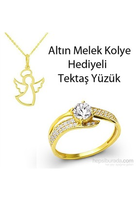 Ejoya Altın Tektaş Yüzük Hk1005