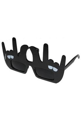Pandoli Zafer İşareti Şekilli Gözlük - Siyah