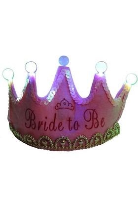 Pandoli Bride To Be Partisi Işıklı Taç - Pembe