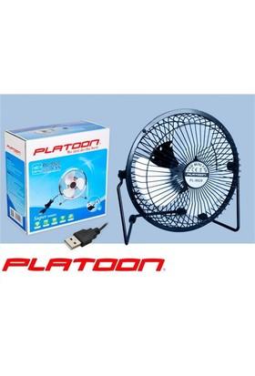 Platoon Pl-9928 Usb Vantilatör Metal Fan 17 Cm Büyük Boy