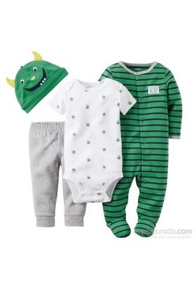 Carter's Layette Erkek Bebek 4'Lü Hastane Çıkış Seti 126G137