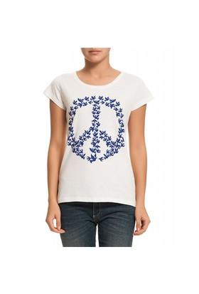 Köstebek Peace - Birds Kadın T-Shirt