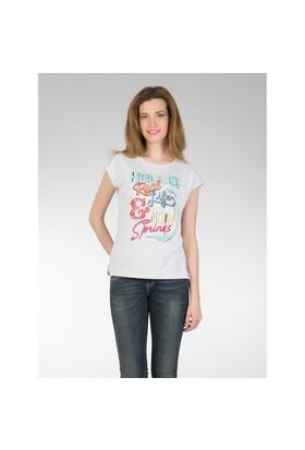 Colin's Gri Kadın Kısa Kol T-Shirt