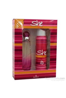 She Is Fun 50 Ml Edt Kadın Parfüm + 150 Ml Deodorant Set