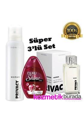 Privacy Parfüm 100 Ml Kadın+150 Ml Kadın Deo+Arko Duş Jeli 250 Ml