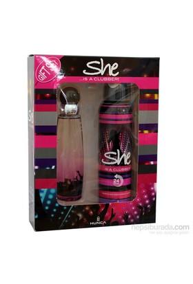 She Is Clubber 50 Ml Edt Kadın Parfüm + 150 Ml Deodorant Set