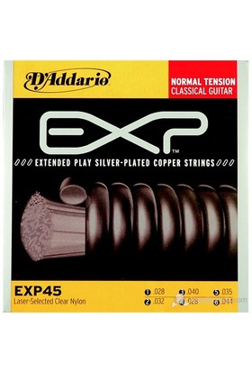 Daddario Exp45 - Normal Tension Klasik Gitar Takım Tel
