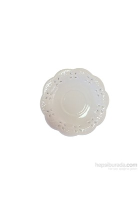 D-Sign Home Porselen Dantelli Çay Tabağı 6 adet