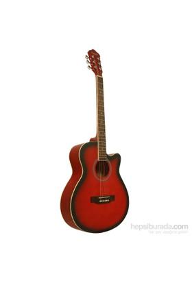 Segovia Gitar Akustik Cutaway SGA40RB (Aksesuar Hediyeli)