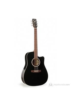 Art & Lutherie CW Cedar Black Elektro Akustik Gitar