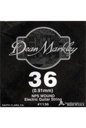 Dean Markley Nickel Steel Wounded .036 Elektro Gitar Telleri