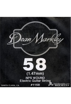 Dean Markley Nickel Steel Wounded .058 Elektro Gitar Telleri