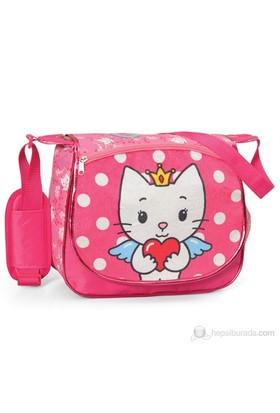 Angel Cat Sugar Postacı Çanta 34*34*6 cm (Pembe)