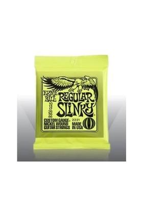 Ernie Ball Po2221 Regular Slinky Nickel Wound 010-046 Elektro Gitar Tel Seti