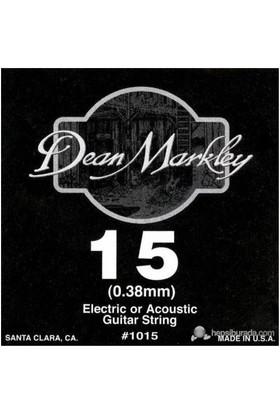 Dean Markley Plain Single .015 Elektro Gitar Telleri