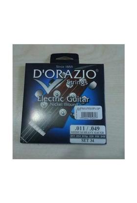 Dorazio 34 Elektro Gitar Teli İtalyan 011-04