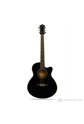 Clariss Cag-300Ce/Bk Elektro Akustik Gitar
