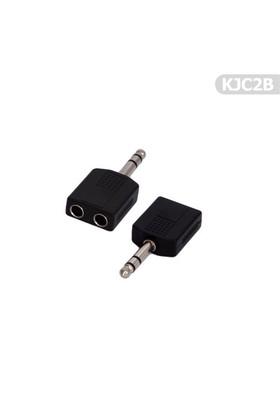 Tenon Kablo Jak Çoğaltıcı-Çoklayıcı 2'Li 6.35Mm Kjc2b