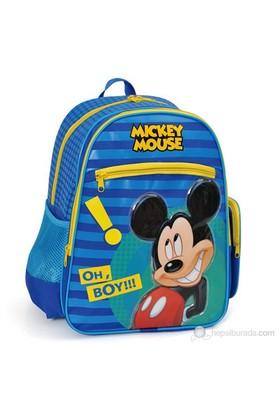 Mickey Mouse Okul Çantası 29*37*17 cm (Lacivert-Sarı)