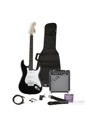 Squier Affinity Series Strat Frontman 10G Amp BLK Elektro Gitar Seti