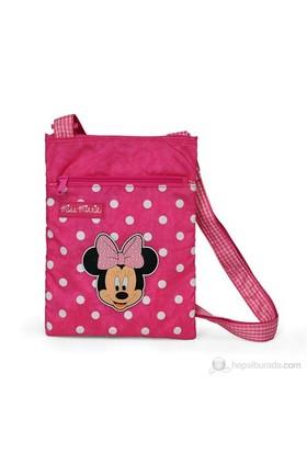 Minnie Mouse Omuz Çantası 19*25*2 cm (Pembe)