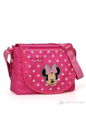 Minnie Mouse Postacı Çanta 27*22*8 cm (Pembe)