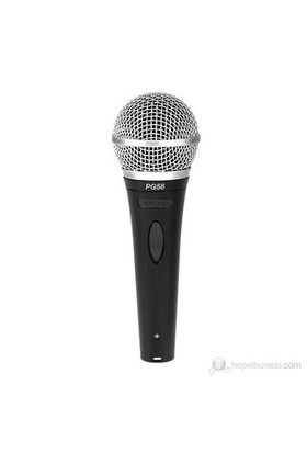 Shure PG-58 Xlr Vokal Mikrofonu (paket)