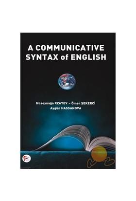A Communicative Syntax Of Engılısh