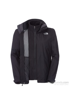 The North Face M Evolution II Triclimate Jacket Erkek Mont Siyah