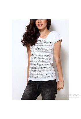 Köstebek Metallica - Note Kadın T-Shirt