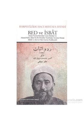 Red Ve İsbat-Harputizade Hacı Mustafa Lütfi