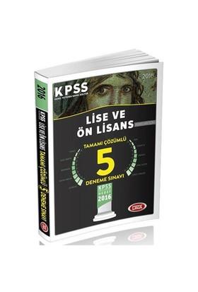 Data Kpss 2016 Lise Ve Ön Lisans Tamamı Çözümlü 5 Deneme Sınavı
