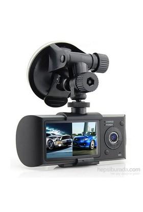 """Techsmart Ghk-1008 2.7"""" Hd,Gps+Çift Kameralı Araç İçi Kamera"""