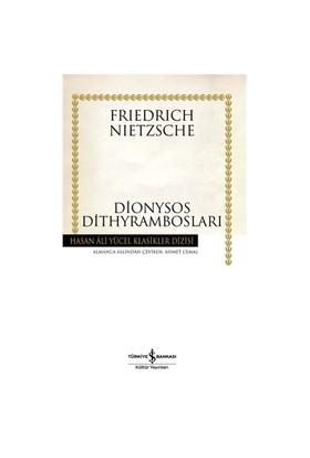 Dionysos Dithyrambosları-Friedrich Wilhelm Nietzsche