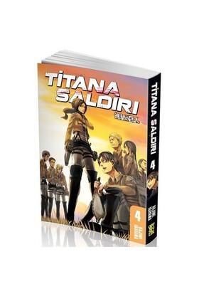 Titana Saldırı 4. Cilt Türkçe Çizgi Roman - Hajime İsayama