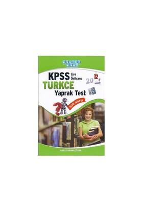 Akıllı Adam Kpss Lise Önlisans Türkçe Yaprak Test 2012-Kolektif