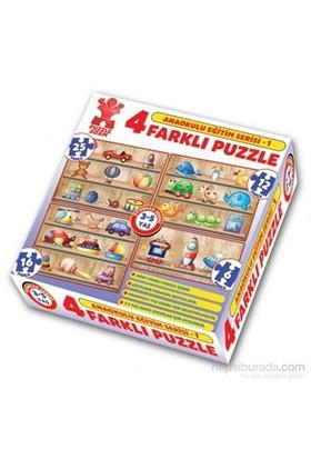 Puzzle Adam Anaokul Eğt Serisi 4'lü Kutu Puzzle –Seri 1