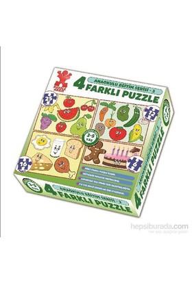 Puzzle Adam Anaokul Eğt Serisi 4'lü Kutu Puzzle –Seri 3