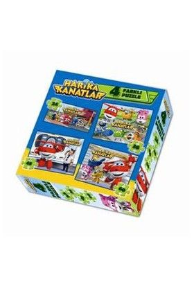 Harika Kanatlar 4'Lü Kutu Puzzle-Kolektif