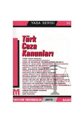 Yasa Serisi-30: Türk Ceza Kanunları (Kalın)