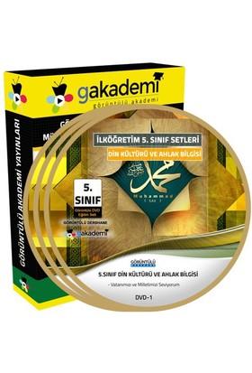 İlköğretim 5. Sınıf Din Kültürü ve Ahlak Bilgisi Görüntülü Eğitim Seti (4 Dvd)