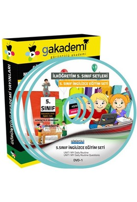 İlköğretim 5. Sınıf İngilizce Görüntülü Eğitim Seti (8 Dvd)