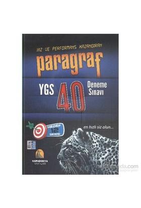 Kapadokya Paragraf YGS 40 Deneme Sınavı