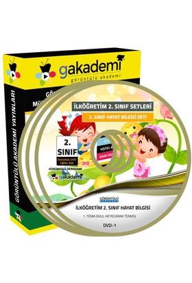 Görüntülü Akademi 2. Sınıf Hayat Bilgisi Görüntülü Eğitim Seti (3 Dvd)