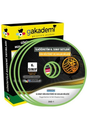 Görüntülü Akademi 6. Sınıf Din Kültürü Ve Ahlak Bilgisi Görüntülü Eğitim Seti (4 Dvd)