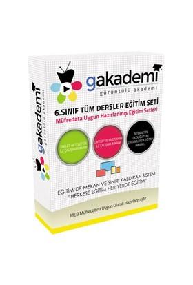 Görüntülü Akademi İlköğretim 6. Sınıf Tüm Dersler Görüntülü Eğitim Seti (42 Dvd)