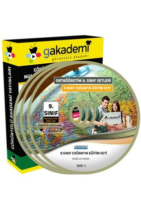 Görüntülü Akademi 9. Sınıf Coğrafya Görüntülü Eğitim Seti (11 Dvd)