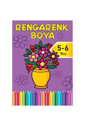 Rengarenk Boya 5 5-6 Yaş Mor Kitap-Kolektif